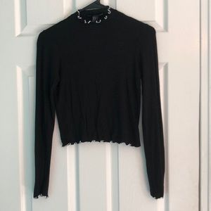 Forever 21 Size Small Long Sleeve Black Top